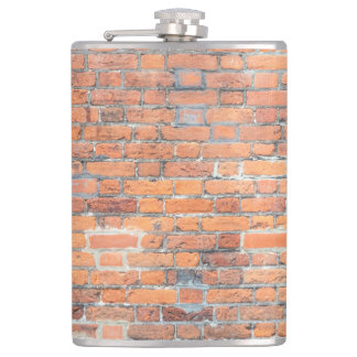 Old red brick wall texture flask