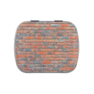 Old red brick wall texture jelly belly tins