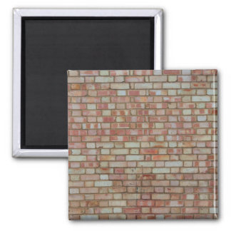 Old red brick wall texture 2 inch square magnet