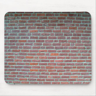Old Red Brick Wall Texture Mouse Pad