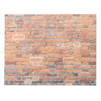 Old red brick wall texture note pad