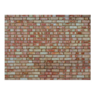 Old red brick wall texture postcard