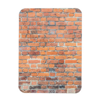 Old red brick wall texture rectangular photo magnet