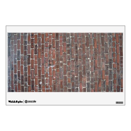 Old red brick wall texture wall sticker