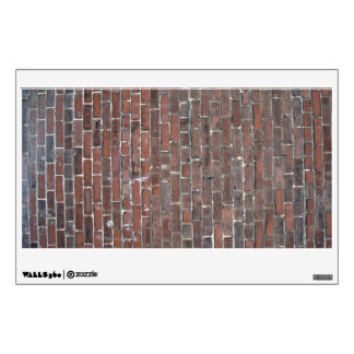 Old red brick wall texture room decal