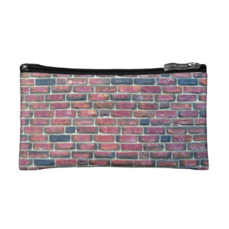 Old Red Brick Wall With Variations Cosmetic Bags