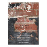Old Red Brick Wedding Invitation