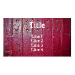 Old red door standard size business card