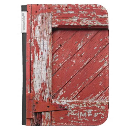 Old Red Door with Chipped Paint Kindle 3 Covers