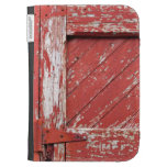 Old Red Door with Chipped Paint Kindle Case