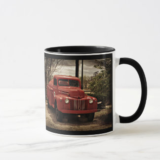 Old Red Firetruck coffee mug