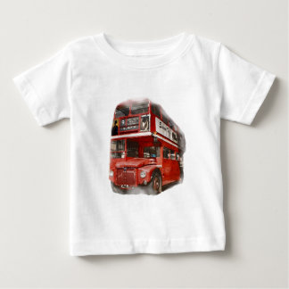 Old Red London Bus Baby T-Shirt
