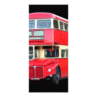 Old red London bus from around 1950 Rack Card