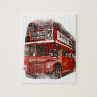 Old Red London Bus Jigsaw Puzzle