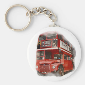 Old Red London Bus Keychain