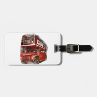 Old Red London Bus Luggage Tag