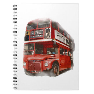 Old Red London Bus Notebook