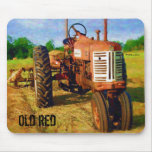 Old red mouse pad