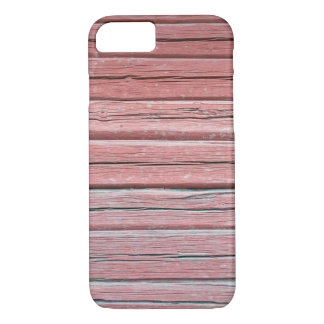 Old red plank wall iPhone 8/7 case