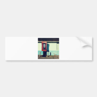 Old Red Telephone Phone Box Bumper Sticker