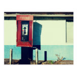 Old Red Telephone Phone Box Postcard