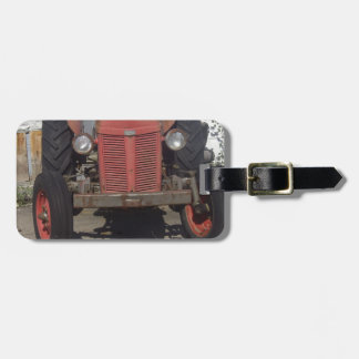 Old Red Tractor Bag Tag