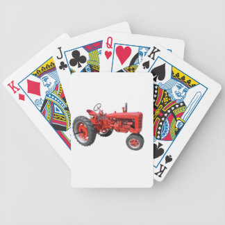 Old Red Tractor Bicycle Playing Cards