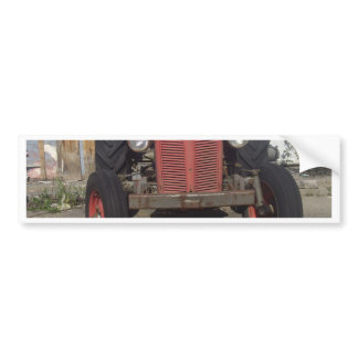 Old Red Tractor Bumper Sticker