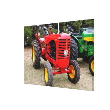 franwestphotography Old red tractor canvas print