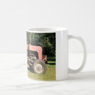 Old Red Tractor Sitting Coffee Mug