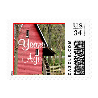 Old Red Watermill Stamp- personalize Postage Stamp