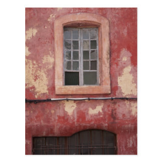 Old Red Window in Provence, France Postcard
