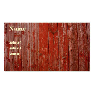Old red wood business card templates