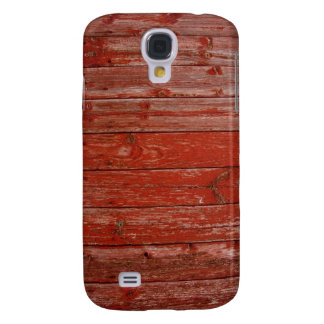 Old red wood galaxy s4 cover