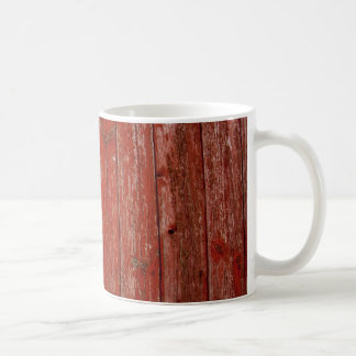 Old red wood coffee mug