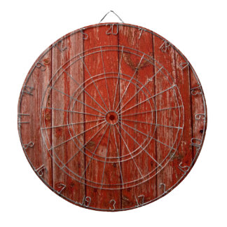 Old red wood dart board