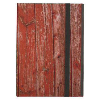 Old red wood iPad air cover