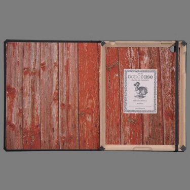 Old red wood iPad case