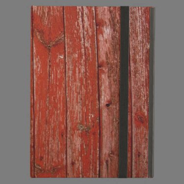 Old red wood iPad folio cases