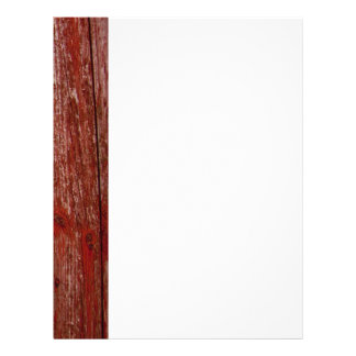 Old red wood letterhead