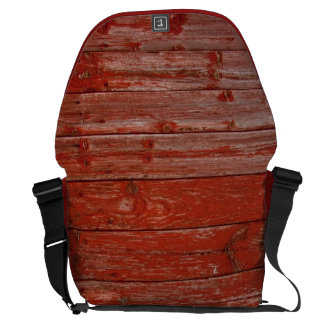 Old red wood messenger bags