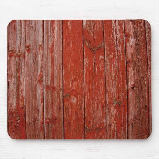 Old red wood mouse pad