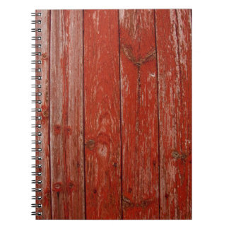Old red wood notebook