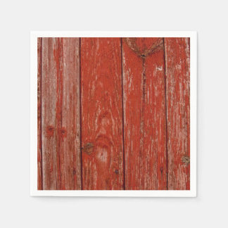 Old red wood paper napkin