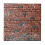 [ Thumbnail: Old Reddish/Brownish Brick Wall Ceramic Tile ]