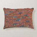 [ Thumbnail: Old Reddish/Brownish Brick Wall Pillow ]