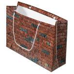 [ Thumbnail: Old Reddish/Brownish Brick Wall Gift Bag ]
