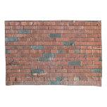 [ Thumbnail: Old Reddish/Brownish Brick Wall Pillow Case ]