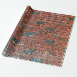 [ Thumbnail: Old Reddish/Brownish Brick Wall Wrapping Paper ]