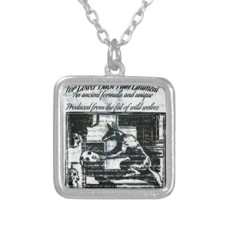 Old remedy silver plated necklace